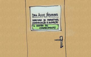 Cartoon: diretora de tudo