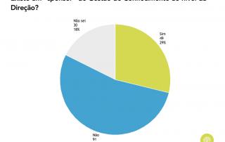 Gráfico que representa a existência de sponsor de GC nas organizações em Portugal (2017)